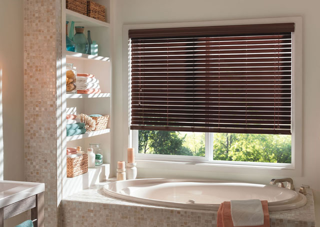 1-faux wood blinds